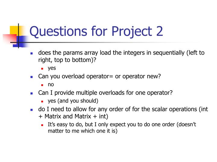 Questions for project 2