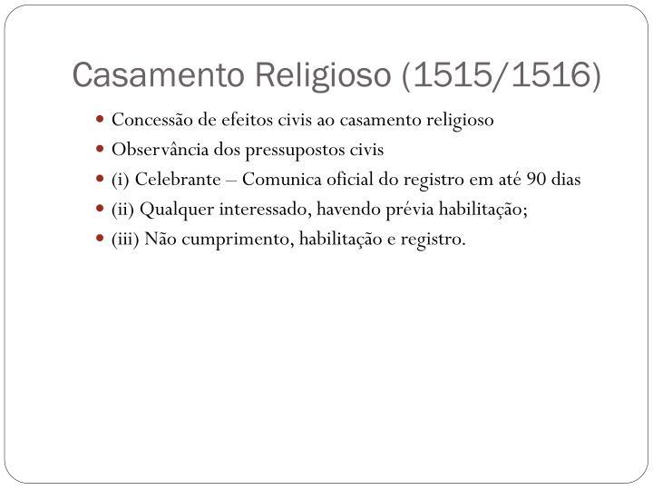 Casamento Religioso (1515/1516)