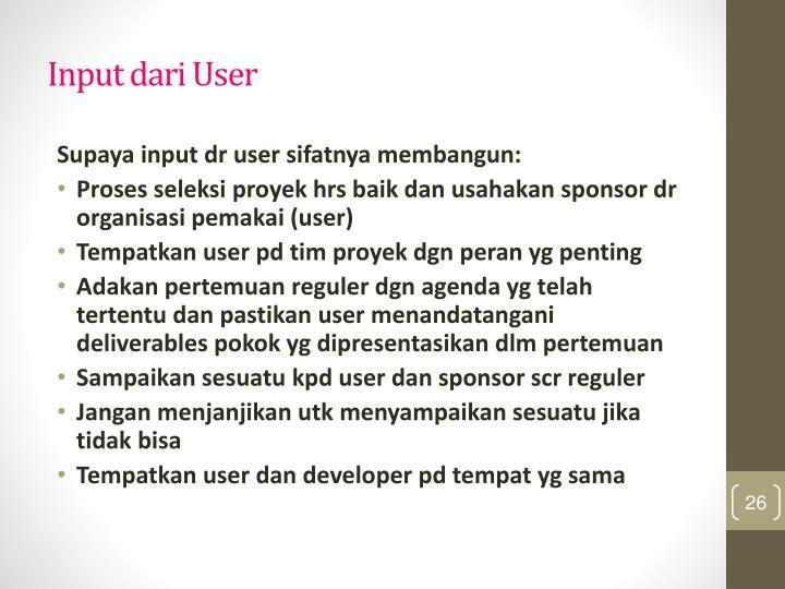 Input dari User