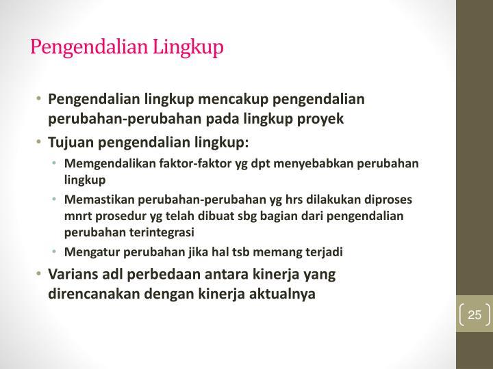 Pengendalian Lingkup