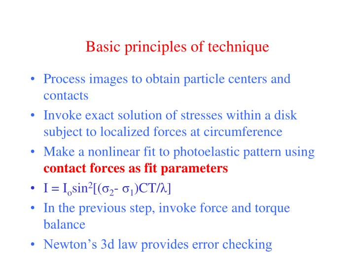 Basic principles of technique
