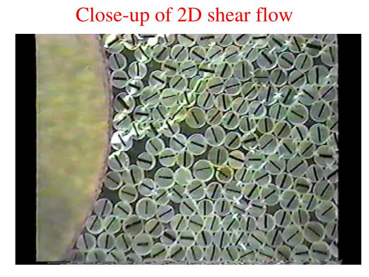 Close-up of 2D shear flow