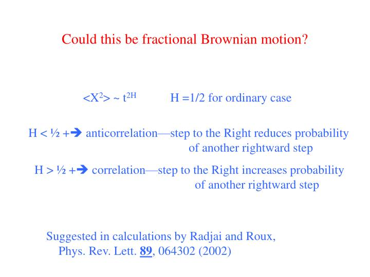 Could this be fractional Brownian motion?