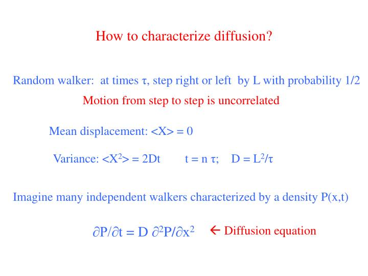 How to characterize diffusion?