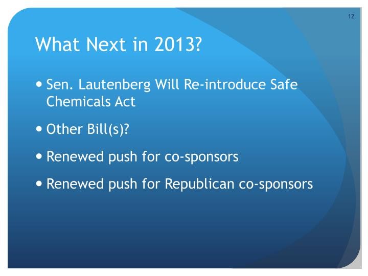 What Next in 2013?