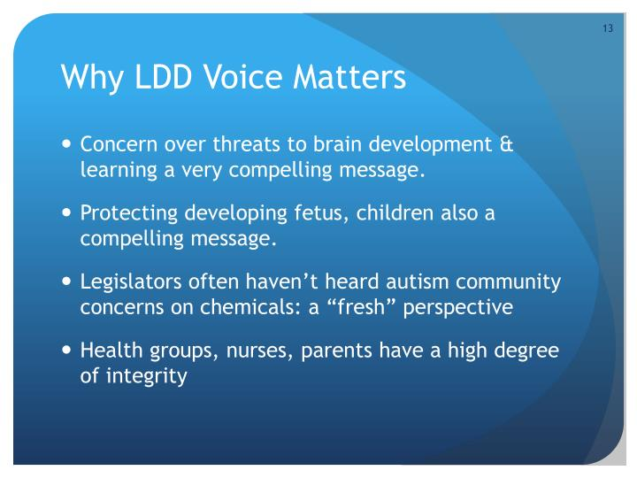 Why LDD Voice Matters