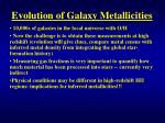 evolution of galaxy metallicities1