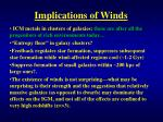 implications of winds