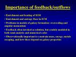 importance of feedback outflows