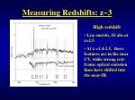 measuring redshifts z 3