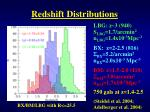 redshift distributions