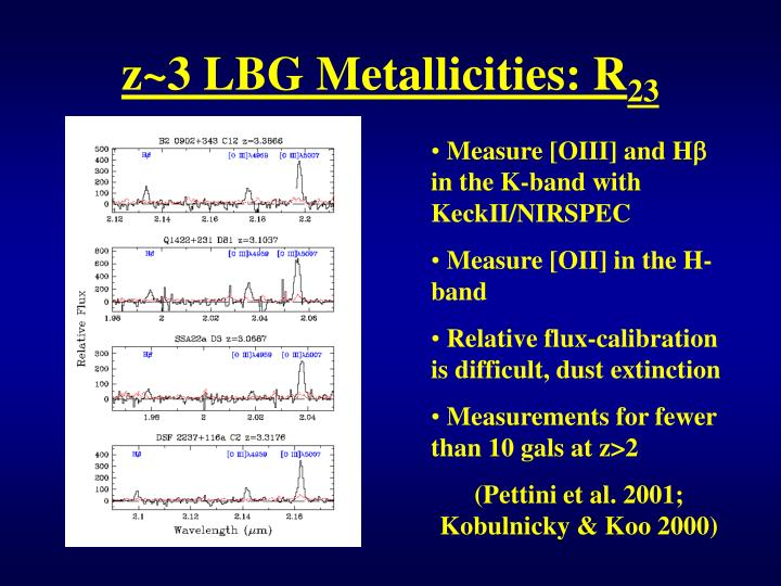 z~3 LBG Metallicities: R