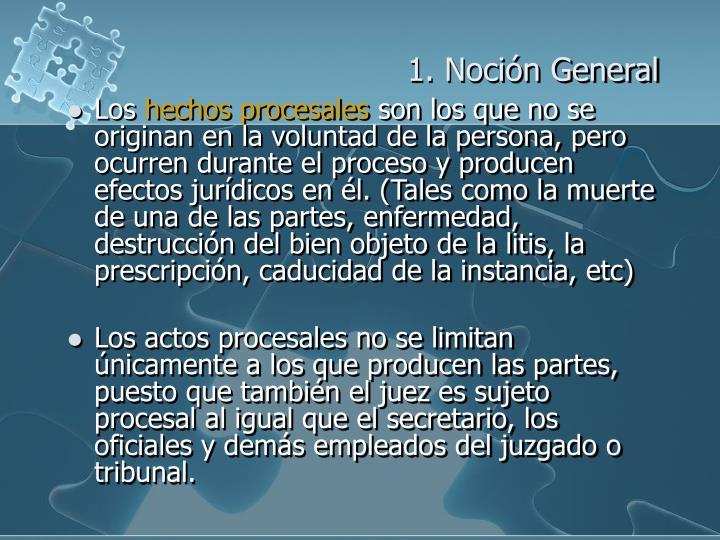 1. Noción General