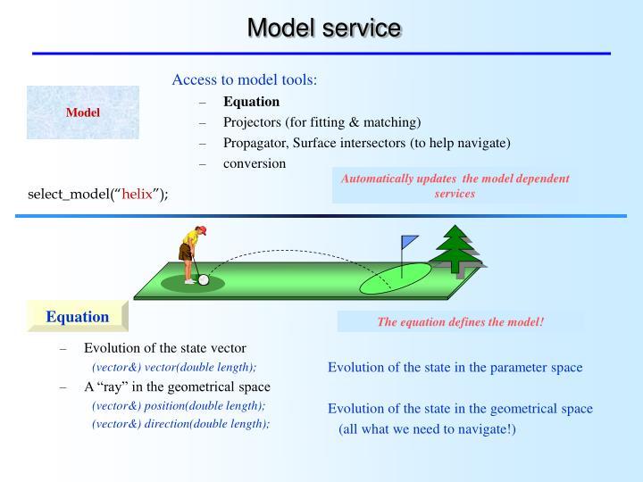 Model service