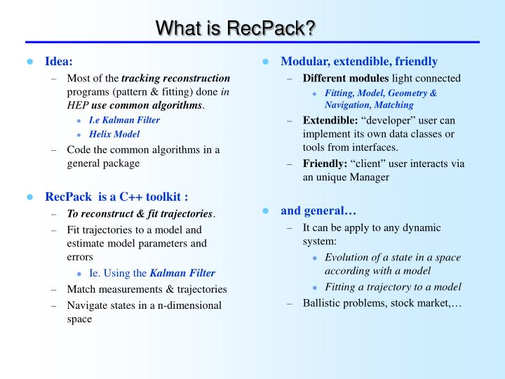 What is RecPack?