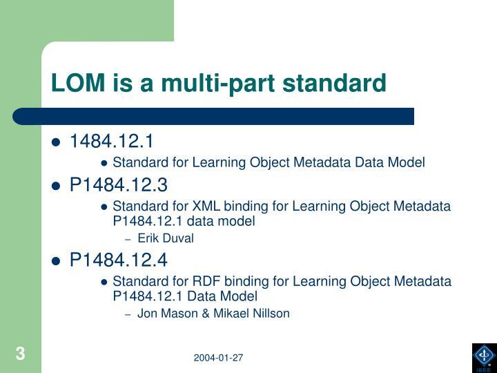 LOM is a multi-part standard