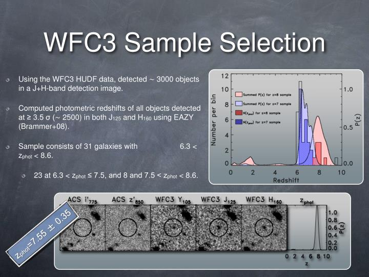 Wfc3 sample selection