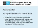 inclusion does it matter where pupils are taught25