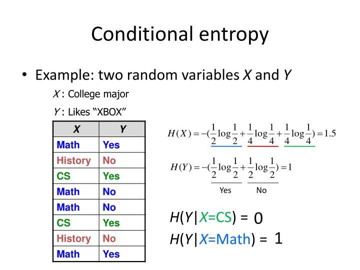 Conditional entropy