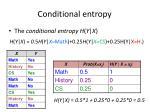 conditional entropy1