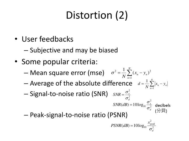Distortion (2)