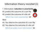 information theory revisited 1