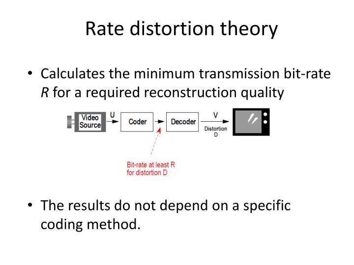 Rate distortion theory