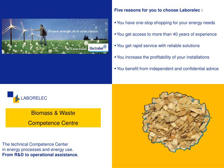 Five reasons for you to choose Laborelec :