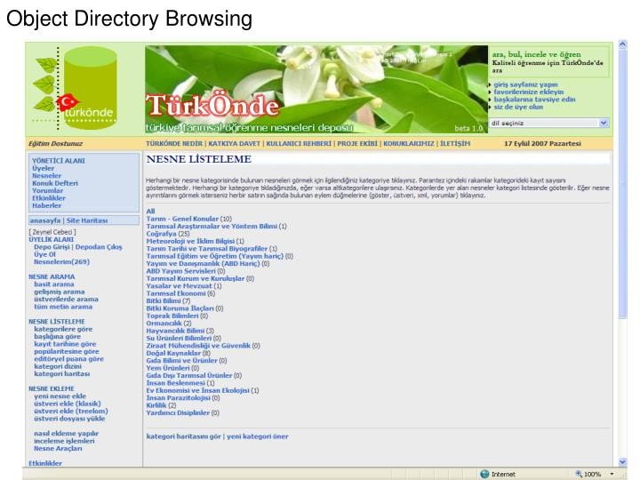 Object Directory Browsing