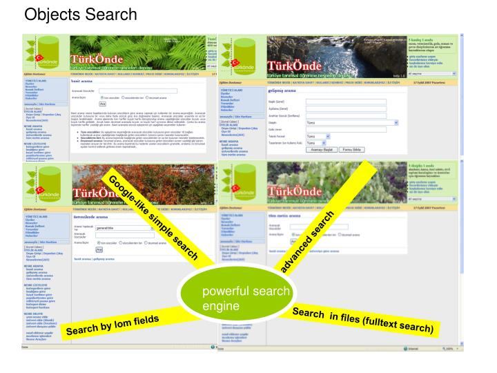 Objects Search