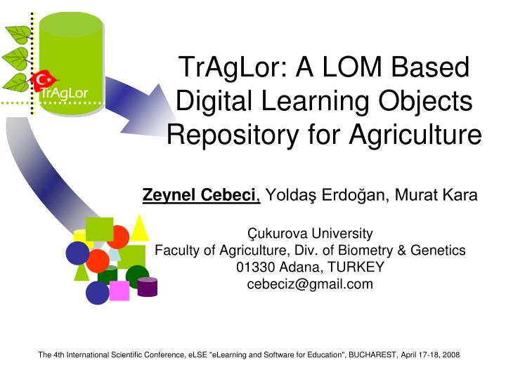 Traglor a lom based digital learning objects repository for agriculture