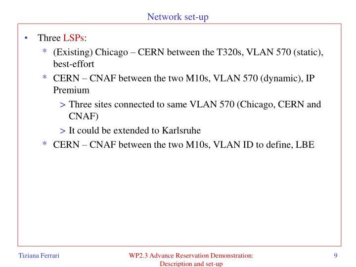 Network set-up