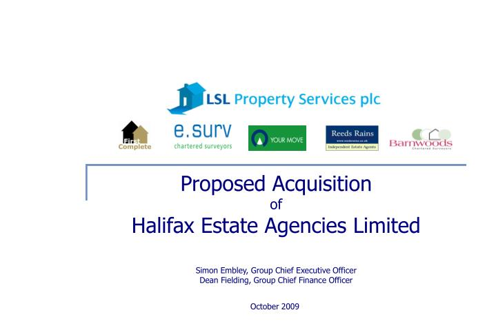 Proposed Acquisition