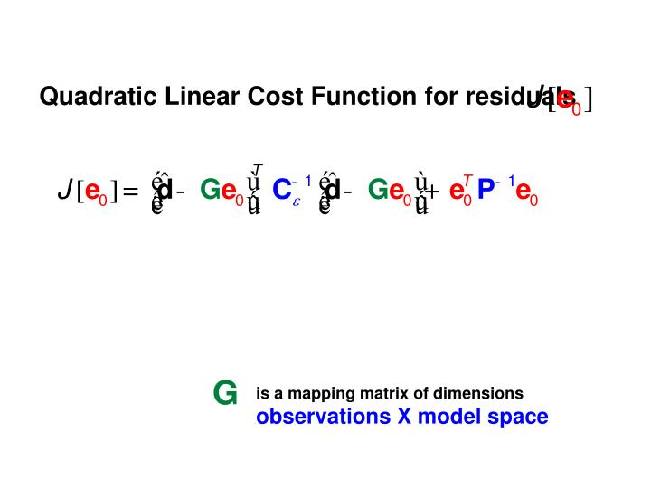 Quadratic Linear Cost Function for residuals
