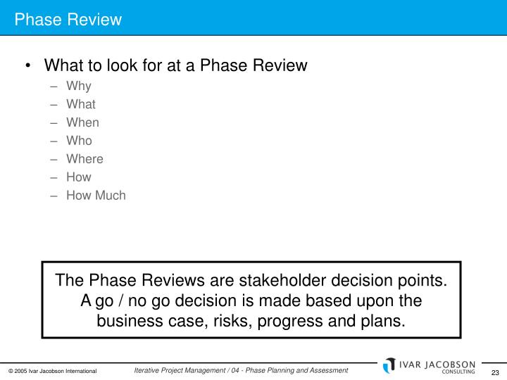 Phase Review