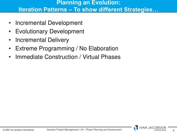 Planning an Evolution: