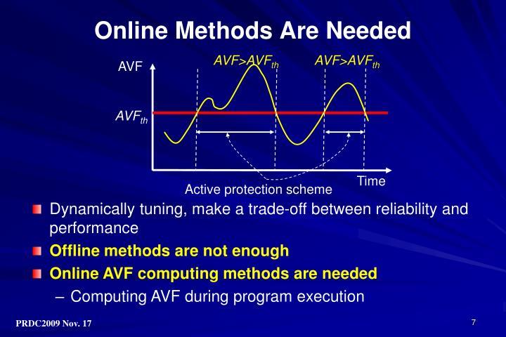 Online Methods Are Needed