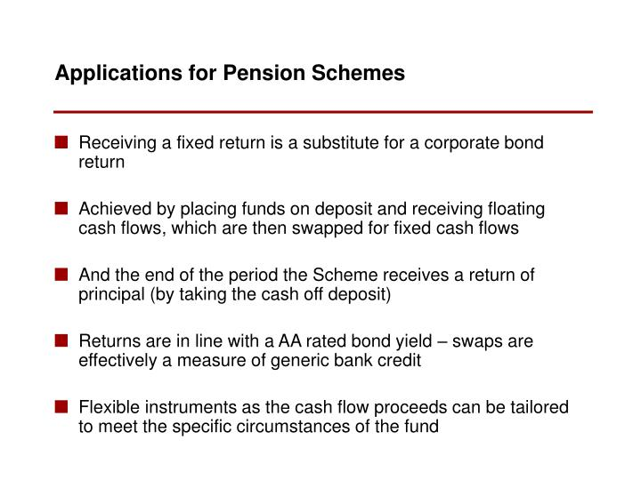 Receiving a fixed return is a substitute for a corporate bond return
