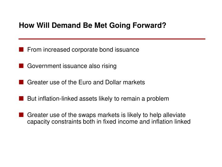 From increased corporate bond issuance