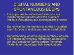 digital numbers and spontaneous beeps