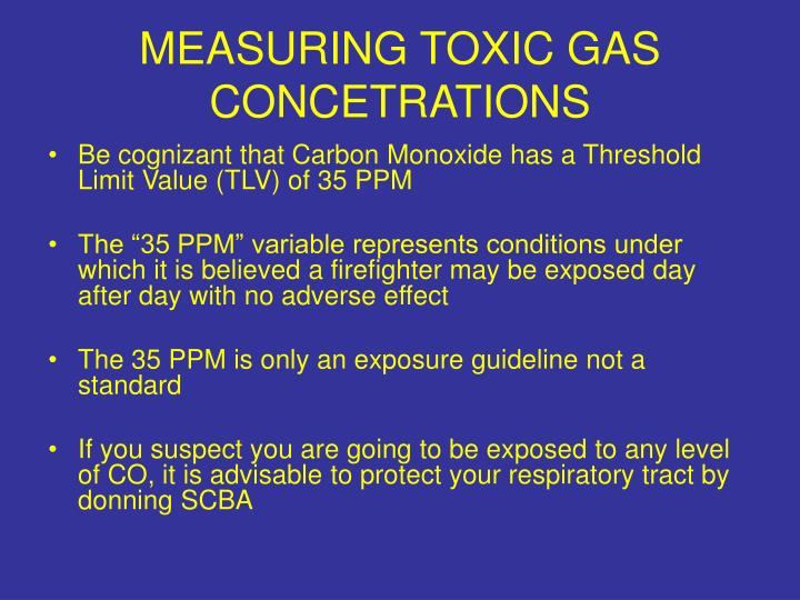 MEASURING TOXIC GAS CONCETRATIONS