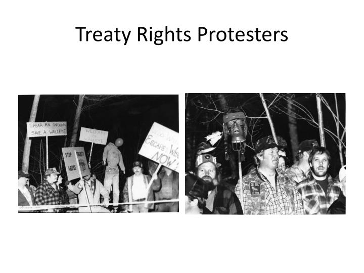 Treaty Rights Protesters
