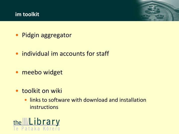im toolkit