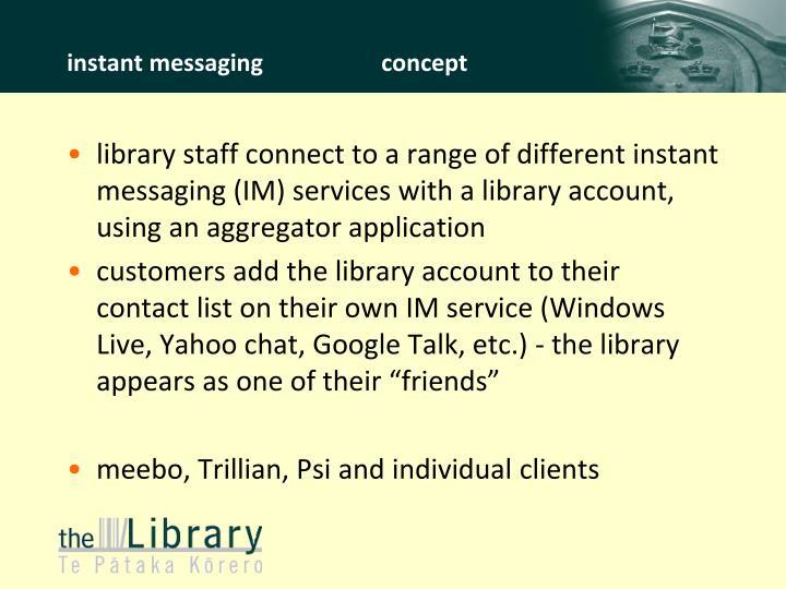 instant messagingconcept