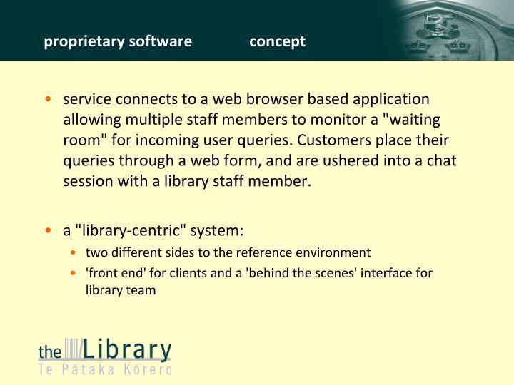 proprietary softwareconcept