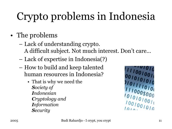 Crypto problems in Indonesia