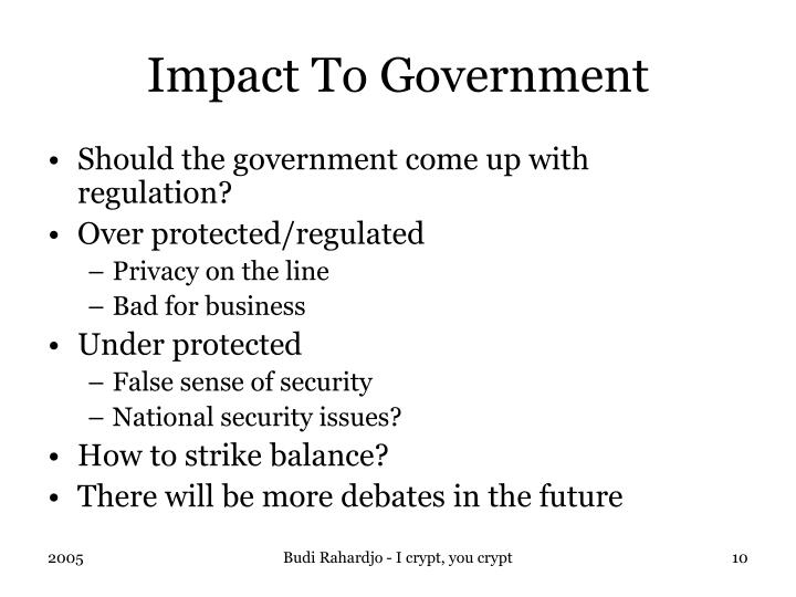 Impact To Government