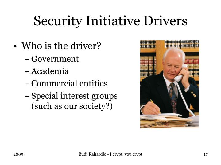 Security Initiative Drivers