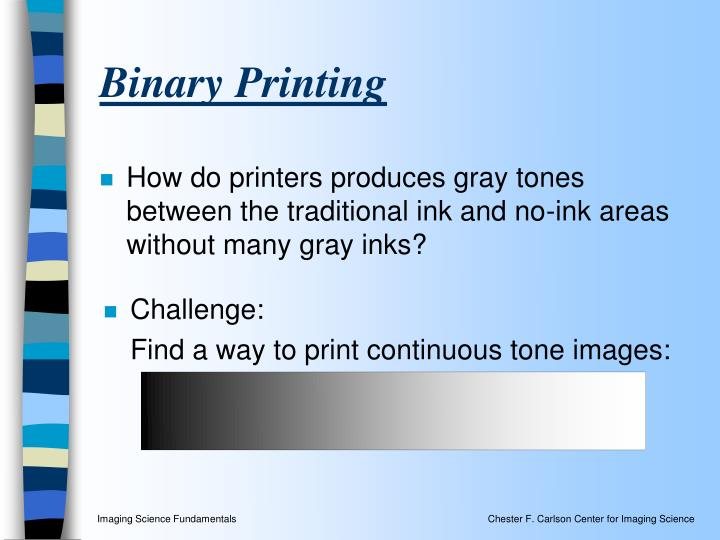 Binary Printing