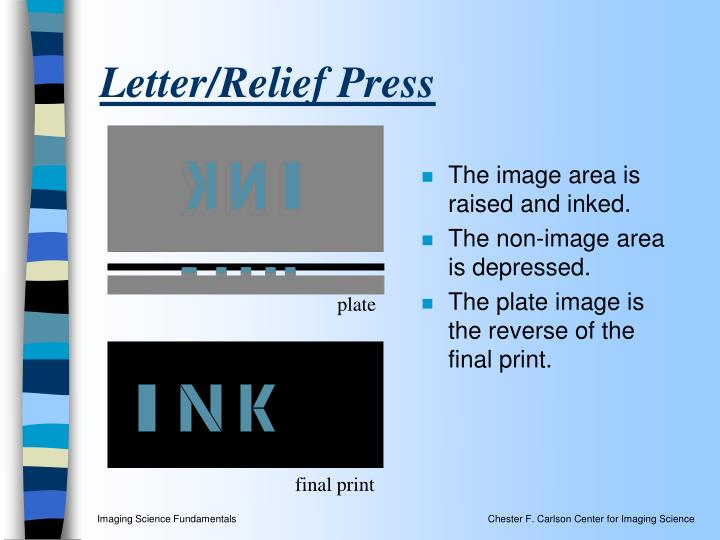 Letter/Relief Press